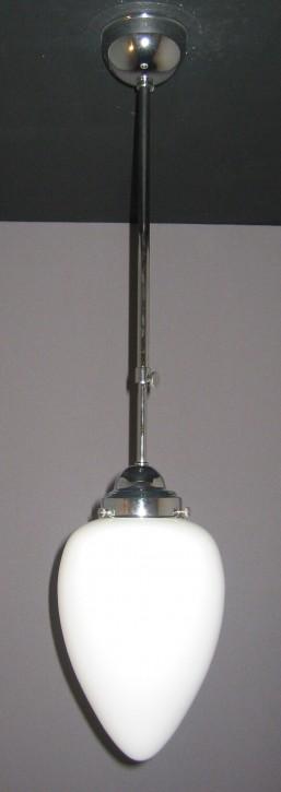Deckenpendel verchromt mit opalem Zapfanglas