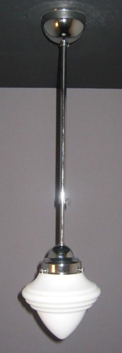 Deckenpendel Bauhaus verchromt Saturnglas Ø 15 cm