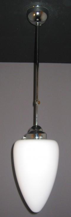 Deckenpendel Bauhaus verchromt Zapfenglas Ø 19 cm