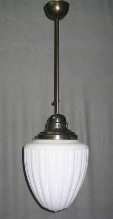 Deckenlampe Stange verstellbar gerieftes Glas Ø 25 cm