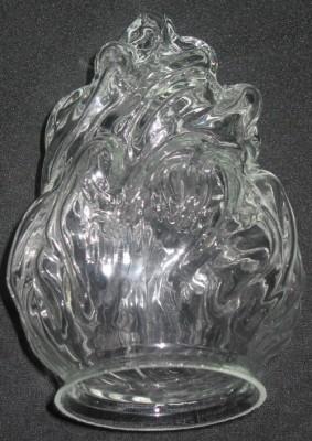 "Lampenglas  ""Flammenform"" klar"