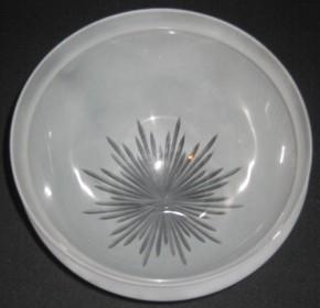 Kuppelschirm mit Sternschliff Griffrand 25 cm