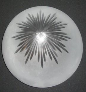 Kuppelschirm mit Sternschliff Griffrand 20 cm