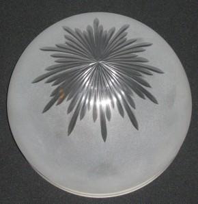 Kuppelschirm mit Sternschliff Griffrand 30 cm