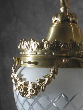 Deckenpendel Messing hell Schliffglas (20 cm)