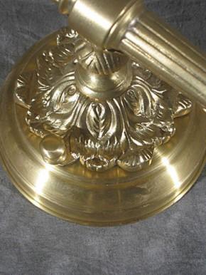Messing-Fackel-Leuchte mit Sternschliffschirm