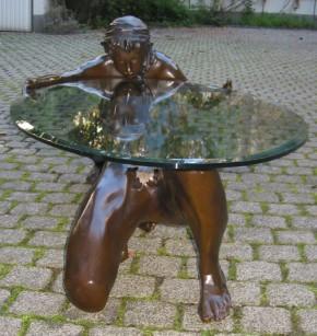 Bronzetisch Paarmotiv Rarität