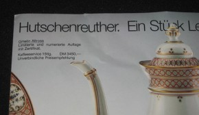 Hutschenreuther Gmelin altrosa Kaffeeservice