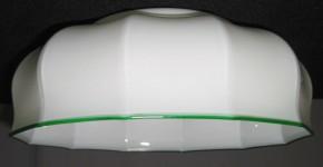 Küchenschirm weiß geschmolzener Rand Ø 23 cm