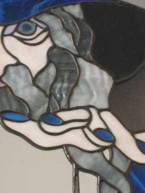 Spiegel mit Tiffanymotiv Merlin der Zauberer