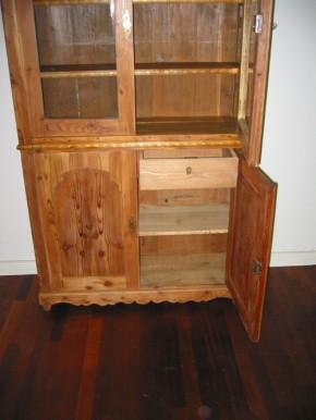 Bücherschrank Spätbiedermeier  Weichholz