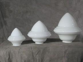 """Lampenglas """"Saturn"""" opal-weiß (22 cm)"""
