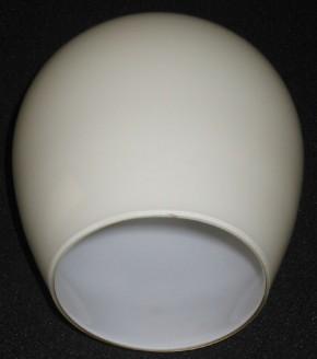 Lampenglas längliche Kugelform offen beige