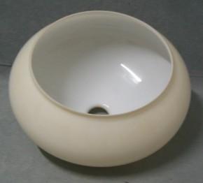 Kuppelschirm bauchig mit Öffnung Ø 37 cm beigefarben