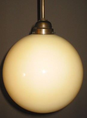 Glaskugel offen beige Ø 25 cm