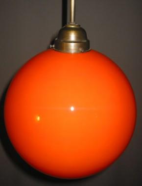 Glaskugel offen orange Ø 25 cm