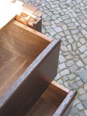 Biedermeier Kommode, Tallboy, 5-Schüber, Eiche