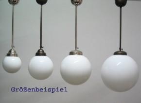Deckenlampe Bauhaus Stange verstellbar,  Kugel (20 cm) brüniert