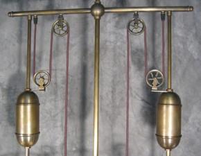Messing Zugleuchte 3flammig Billardlampe