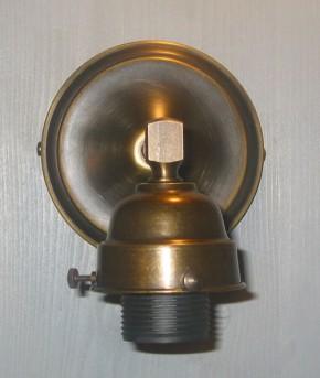 Wandlampe Bilderleuchte Halbkugelglas beige