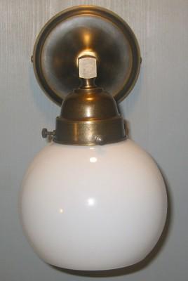 Wandlampe Bilderleuchte Halbkugelglas opal