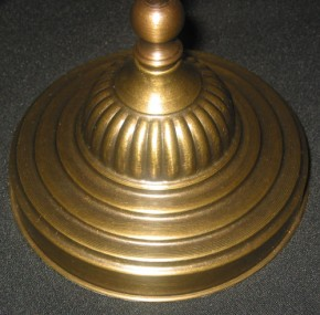 Tischlampe Messing verstellbar opal-weißes Tulpenglas
