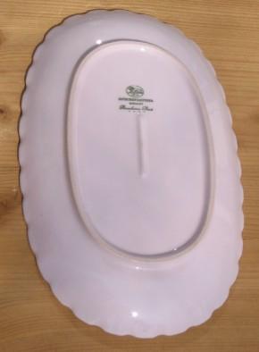 Hutschenreuther porcelaine rose ovale Platte klein