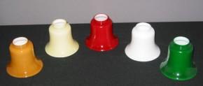 Ersatzglas Tisch / Deckenlampe in Rockform cognacfarben